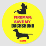 Reserva del personalizado mi Dachshund Etiquetas Redondas