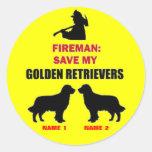 Reserva del personalizado mis perros perdigueros d etiqueta redonda