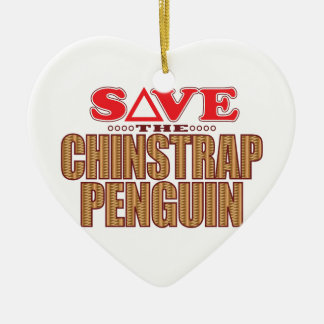 Reserva del pingüino de Chinstrap Adorno Navideño De Cerámica En Forma De Corazón