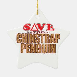 Reserva del pingüino de Chinstrap Adorno Navideño De Cerámica En Forma De Estrella
