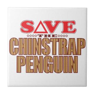 Reserva del pingüino de Chinstrap Azulejo Cuadrado Pequeño