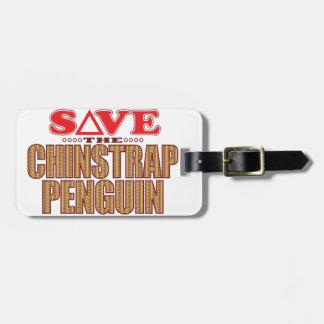 Reserva del pingüino de Chinstrap Etiquetas Para Maletas