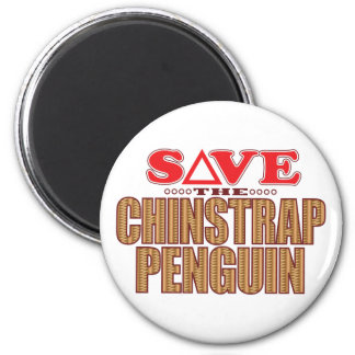 Reserva del pingüino de Chinstrap Imán Redondo 5 Cm