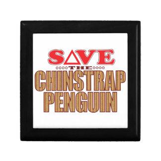 Reserva del pingüino de Chinstrap Joyero Cuadrado Pequeño