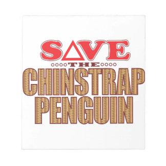 Reserva del pingüino de Chinstrap Libretas Para Notas