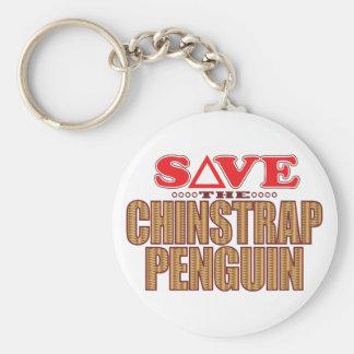 Reserva del pingüino de Chinstrap Llavero Redondo Tipo Pin