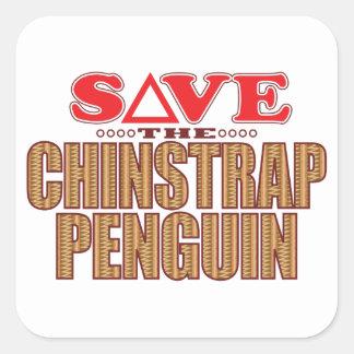 Reserva del pingüino de Chinstrap Pegatina Cuadrada
