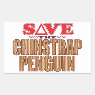 Reserva del pingüino de Chinstrap Pegatina Rectangular