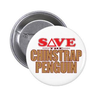 Reserva del pingüino de Chinstrap Pin Redondo De 2 Pulgadas