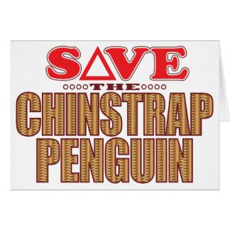 Reserva del pingüino de Chinstrap Tarjeta De Felicitación