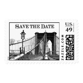 Reserva del puente de Brooklyn del horizonte de Estampilla