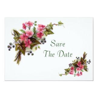 """Reserva del ramo floral la fecha invitación 5"""" x 7"""""""