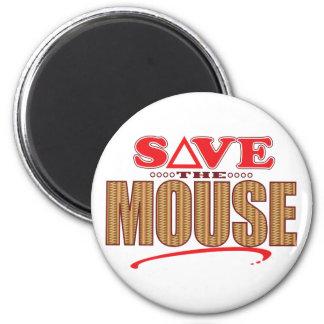 Reserva del ratón imán redondo 5 cm