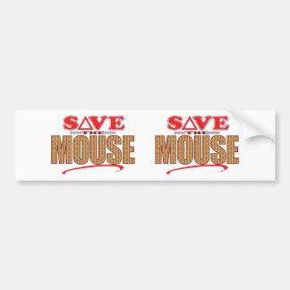 Reserva del ratón pegatina para auto
