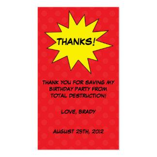 Reserva del rojo las etiquetas del favor del tarjetas de visita
