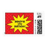 Reserva del rojo los sellos del cumpleaños del sup