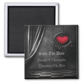 Reserva del romance gótico el imán del boda de la
