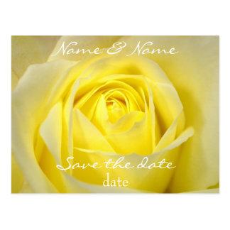 reserva del rosa amarillo la postal de la fecha