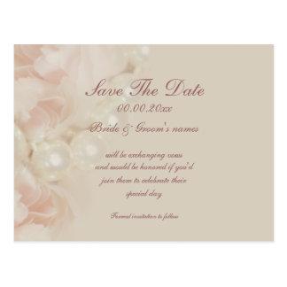 Reserva del rosa de las perlas de los rosas las postales