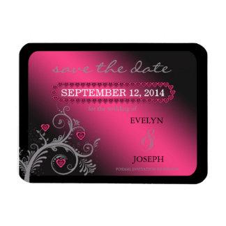 Reserva del rosa de los amores la fecha ID169 Rectangle Magnet
