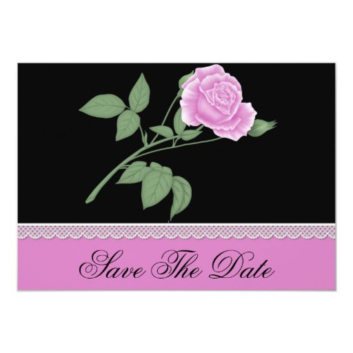 """Reserva del rosa la fecha invitación 5"""" x 7"""""""