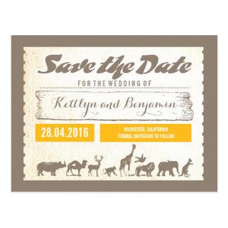 Reserva del safari o de la fauna del parque tarjetas postales