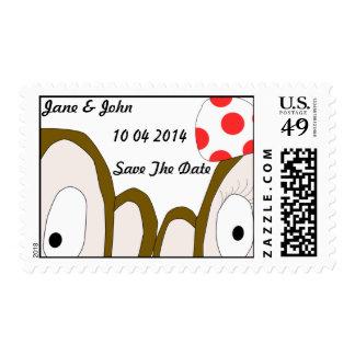 Reserva del sello de los monos la plantilla de la