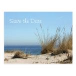 Reserva del tema de la playa la postal de la fecha