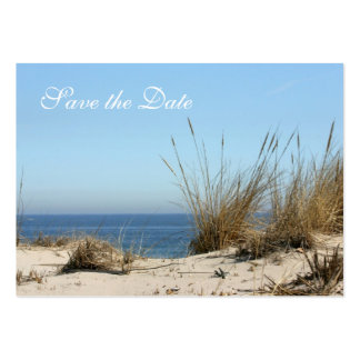 Reserva del tema de la playa la tarjeta de tamaño  tarjetas de visita grandes