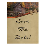 Reserva del tema del país del otoño el boda de la postal