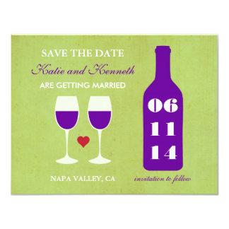 Reserva del tema del vino la tarjeta de fecha anuncios