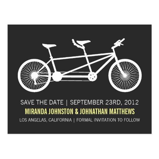 Reserva del texto amarillo de la bicicleta las pos postales