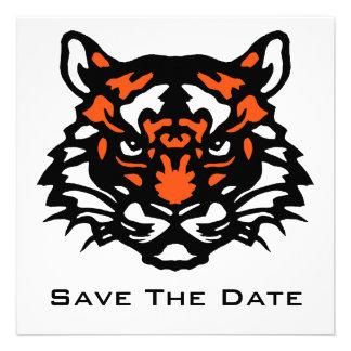 Reserva del tigre la fecha invitacion personalizada