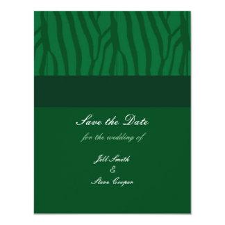 """Reserva del verde de hierba la fecha invitación 4.25"""" x 5.5"""""""