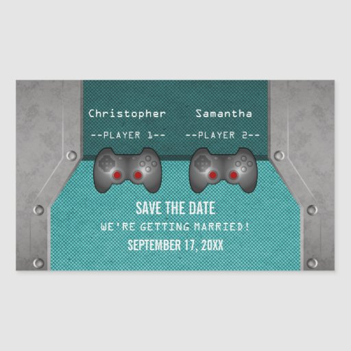 Reserva del videojuego los pegatinas de la fecha, pegatina rectangular