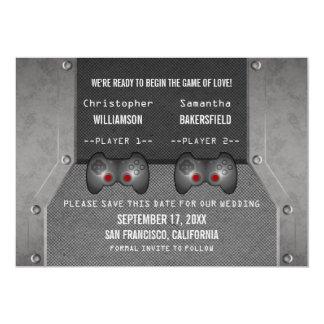 Reserva del videojuego que la fecha invita, gris invitación 12,7 x 17,8 cm