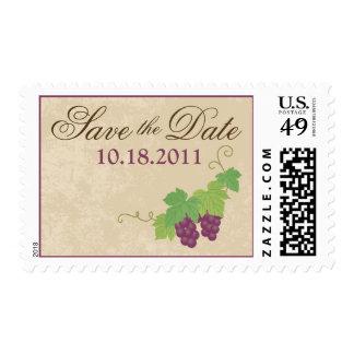 Reserva del viñedo el franqueo de la fecha timbre postal