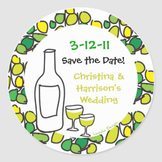Reserva del vino los pegatinas de la fecha del etiqueta redonda