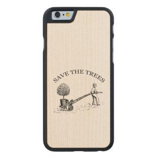 Reserva del vintage el caso de madera 2 de Iphone Funda De iPhone 6 Carved® Slim De Arce