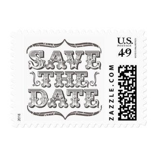 Reserva del vintage el franqueo de la tipografía d timbres postales