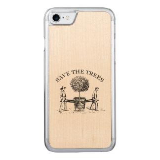 Reserva del vintage los árboles Iphone de madera 1 Funda Para iPhone 7