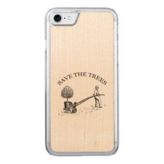 Reserva del vintage los árboles Iphone de madera 2 Funda Para iPhone 7