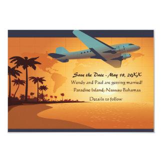 Reserva del vuelo de la isla la invitación de la