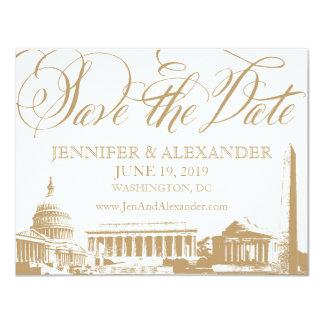 """Reserva del Washington DC la fecha - monumentos 3 Invitación 4.25"""" X 5.5"""""""