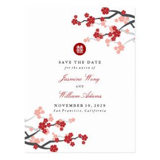 Reserva doble roja de la felicidad de Sakura la Postal