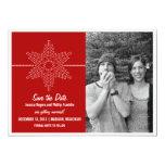 Reserva dulce del copo de nieve que la fecha invitación 12,7 x 17,8 cm