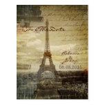 reserva elegante de París del vintage de la torre  Tarjetas Postales
