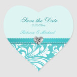 Reserva elegante del azul del trullo los pegatinas calcomanías corazones