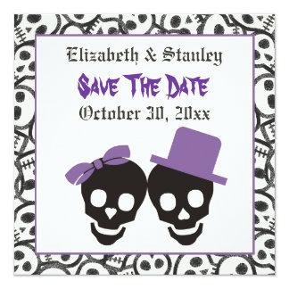 Reserva elegante del boda de Halloween de los Invitación 13,3 Cm X 13,3cm