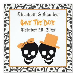 Reserva elegante del boda de Halloween de los